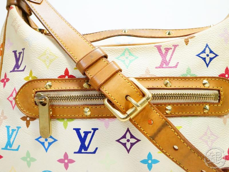 AUTHENTIC PRE-OWNED LOUIS VUITTON MONOGRAM MULTI COLOR BLANC BOULOGNE SHOULDER BAG M92660 190371