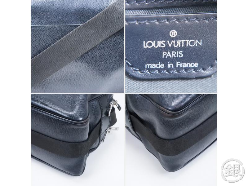 AUTHENTIC PRE-OWNED LOUIS VUITTON TAIGA ARDOISE BLACK REPORTER COMPARTMENT MESSENGER M30152 161287