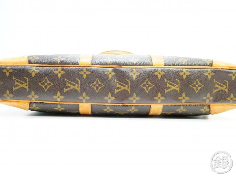 authentic pre-owned louis vuitton monogram porte-documents voyage hand bag briefcase m53361 190358