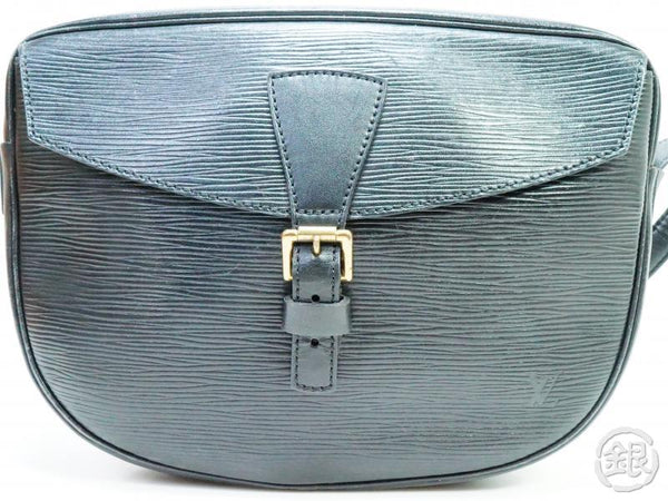 AUTHENTIC PRE-OWNED LOUIS VUITTON VINTAGE EPI NOIR JEUNE FILLE MESSENGER CROSSBODY BAG M52152 190411