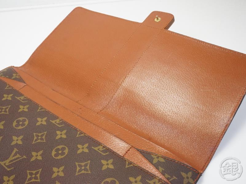 AUTHENTIC PRE-OWNED LOUIS VUITTON VINTAGE MONOGRAM POCHE DIPLOMATE HOMME DOCUMENT CASE No.243 140004