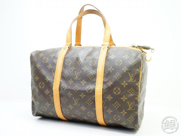 authentic pre-owned louis vuitton vintage monogram sac souple 35 traveling duffle bag m41626 190445