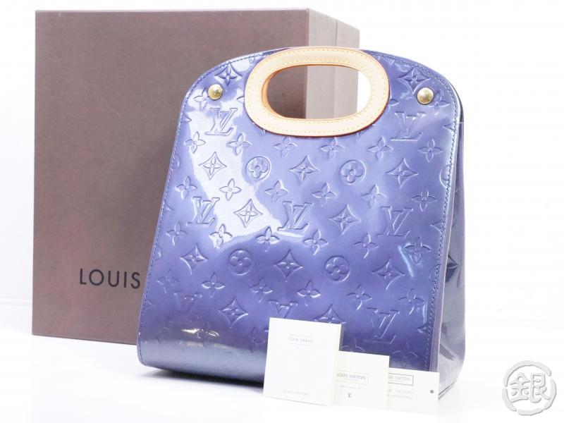 AUTHENTIC PRE-OWNED LOUIS VUITTON LV VERNIS INDIGO BLUE MAPLE DRIVE HAND TOTE BAG M91377 190509