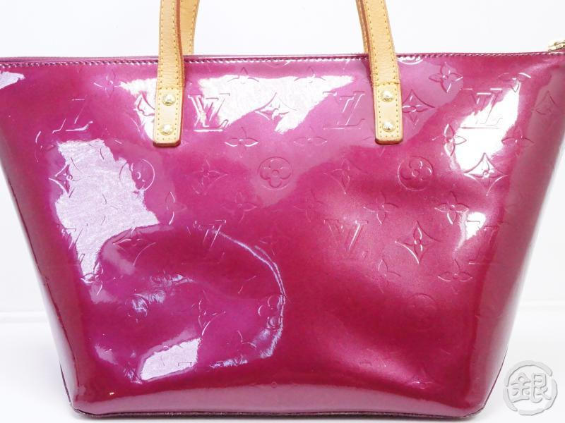 AUTHENTIC PRE-OWNED LOUIS VUITTON VERNIS VIOLET PURPLE BELLEVUE PM HAND TOTE BAG M93584 132983