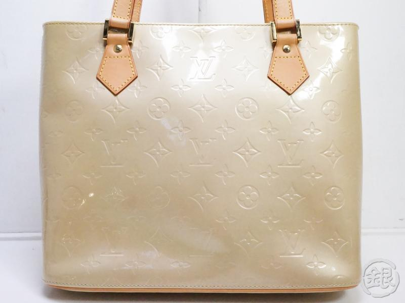 AUTHENTIC PRE-OWNED LOUIS VUITTON VERNIS BEIGE HOUSTON HAND TOTE BAG M91004 190556