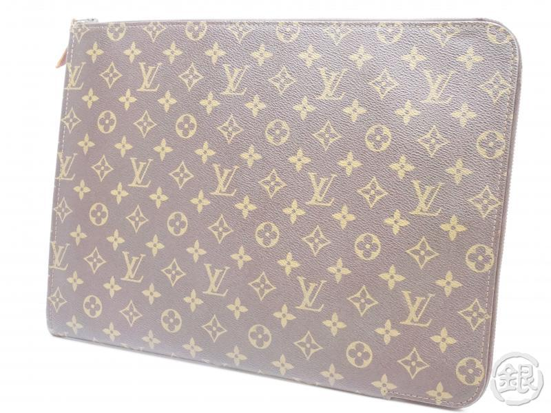 AUTHENTIC PRE-OWNED LOUIS VUITTON VINTAGE MONOGRAM POCHE DOCUMENTS PORTFOLIO GM CASE M53456 190538