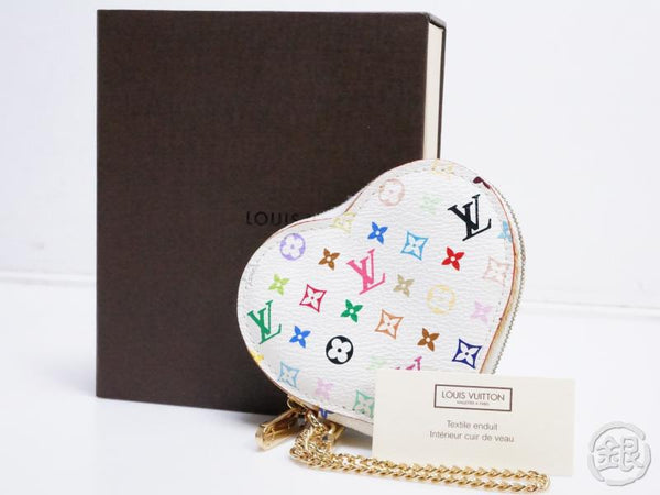 AUTHENTIC PRE-OWNED LOUIS VUITTON MONOGRAM MULTI COLOR PORTE-MONNAIE COEUR COIN CASE M60040 190440