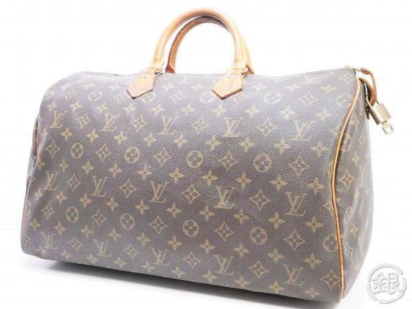 AUTHENTIC PRE-OWNED LOUIS VUITTON SPEEDY 40 MONOGRAM DUFFLE BAG HAND BAG PURSE M41522 M41106 190459