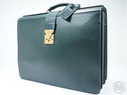 AUTHENTIC PRE-OWNED LOUIS VUITTON TAIGA EPICEA PILOT CASE OURAL DOCUMENT CASE BAG M30024 152265