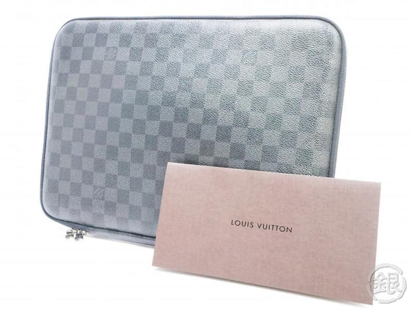 AUTHENTIC PRE-OWNED LOUIS VUITTON DAMIER GRAPHITE COMPUTER SLEEVE PM BRIEFCASE LAPTOP N58026 151811
