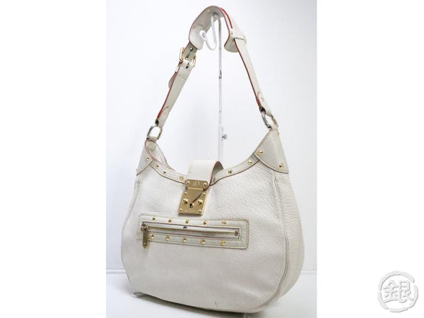 AUTHENTIC PRE-OWNED LOUIS VUITTON SUHALI BLANC WHITE L'AFFRIOLANT SHOULDER HOBO BAG M92850 190465