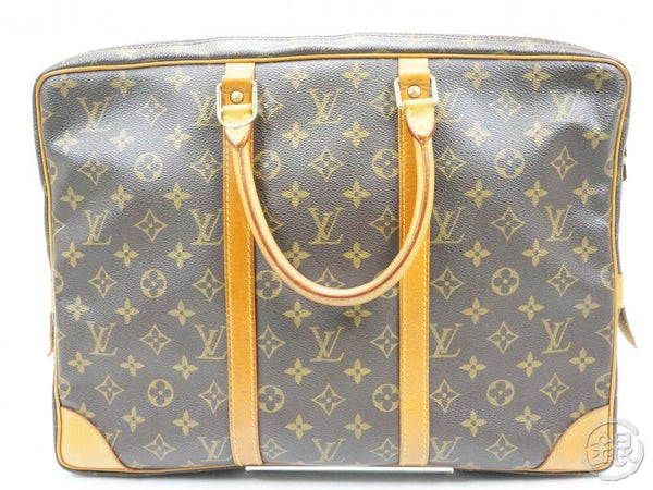 AUTHENTIC PRE-OWNED LOUIS VUITTON MONOGRAM PORTE-DOCUMENTS VOYAGE HAND BAG BRIEFCASE M53361 142023