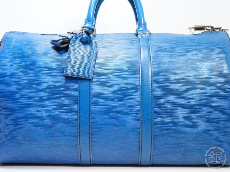 AUTHENTIC PRE-OWNED LOUIS VUITTON VINTAGE EPI TOLEDO BLUE KEEPALL 45 TRAVEL DUFFLE BAG M42975 190455