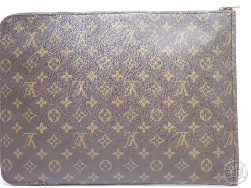 AUTHENTIC PRE-OWNED LOUIS VUITTON VINTAGE MONOGRAM POCHE DOCUMENTS PORTFOLIO GM CASE M53456 190363