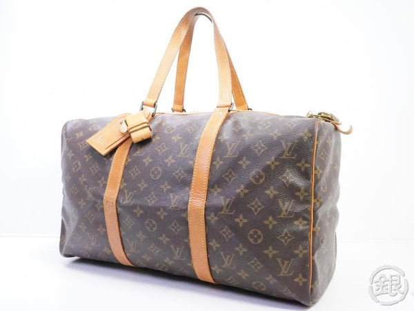 AUTHENTIC PRE-OWNED LOUIS VUITTON VINTAGE MONOGRAM SAC SOUPLE 45 TRAVELING DUFFLE BAG M41624 190466