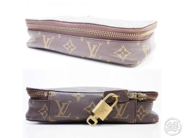 AUTHENTIC PRE-OWNED LOUIS VUITTON VINTAGE MONOGRAM TROUSSE POCHE BIJOUX JEWELRY CASE M47342 150411