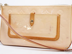 AUTHENTIC PRE-OWNED LOUIS VUITTON VERNIS PINK MALLORY SQUARE POUCH BAG PURSE M91292 190692