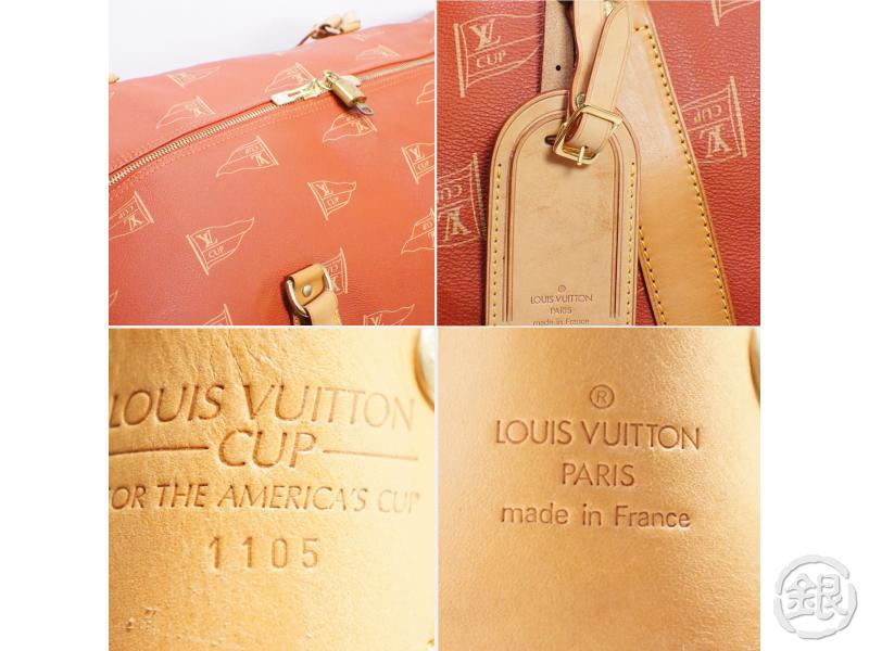 AUTHENTIC PRE-OWNED LOUIS VUITTON CUP '95 SAC CABOURG GARMENT DUFFLE 2-WAY TRAVEL BAG M80020 162053