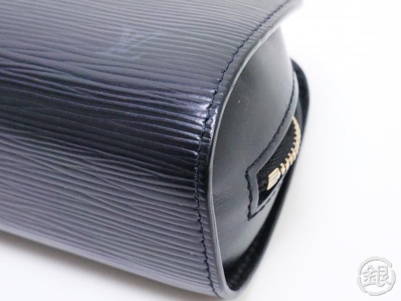 AUTHENTIC PRE-OWNED LOUIS VUITTON EPI BLACK DAUPHINE PM COSMETIC POUCH BAG M48442 190552