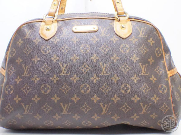 AUTHENTIC PRE-OWNED LOUIS VUITTON LV MONOGRAM MONTORGUEIL GM SHOULDER DUFFLE BAG M95566 190674