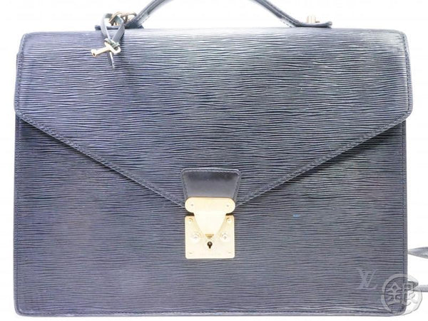 AUTHENTIC PRE-OWNED LOUIS VUITTON LV EPI BLACK PORTE-DOCUMENTS BANDOULIERE 2-WAY BAG M54462 190699