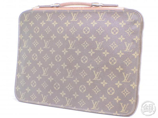 AUTHENTIC PRE-OWNED LOUIS VUITTON MONOGRAM VINTAGE POCHE DOCUMENTS POIGNEE DOCUMENT BAG No.52 190715