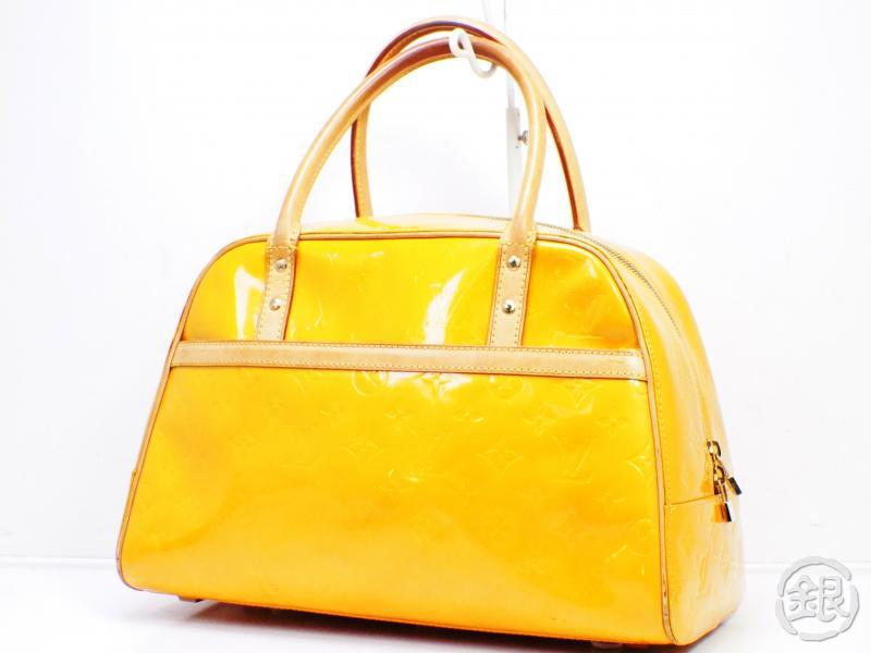 AUTHENTIC PRE-OWNED LOUIS VUITTON VERNIS JAUNE YELLOW TOMPKINS SQUARE DUFFLE SPORT BAG M91102 190655