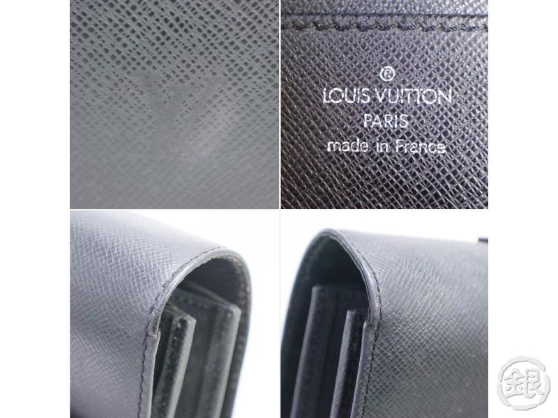 AUTHENTIC PRE-OWNED LOUIS VUITTON TAIGA BLACK ARDOISE SERVIETTE MOSKOVA BRIEFCASE BAG M30032 190551