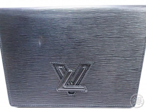AUTHENTIC PRE-OWNED LOUIS VUITTON LV EPI BLACK NOIR POCHETTE TRAPEZE CLUTCH BAG M80166 190488
