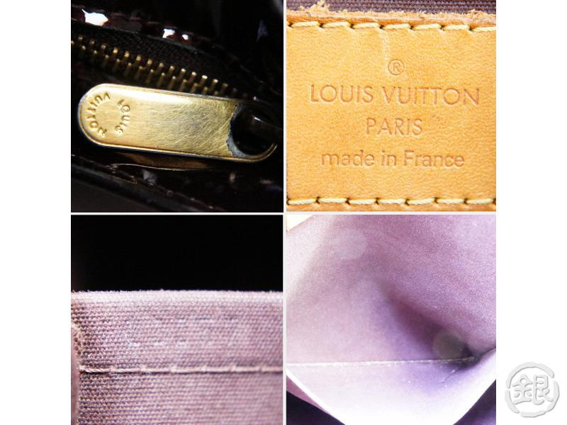 AUTHENTIC PRE-OWNED LOUIS VUITTON VERNIS AMARANTE BRENTWOOD SHOULDER TOTE BAG M91994 190519