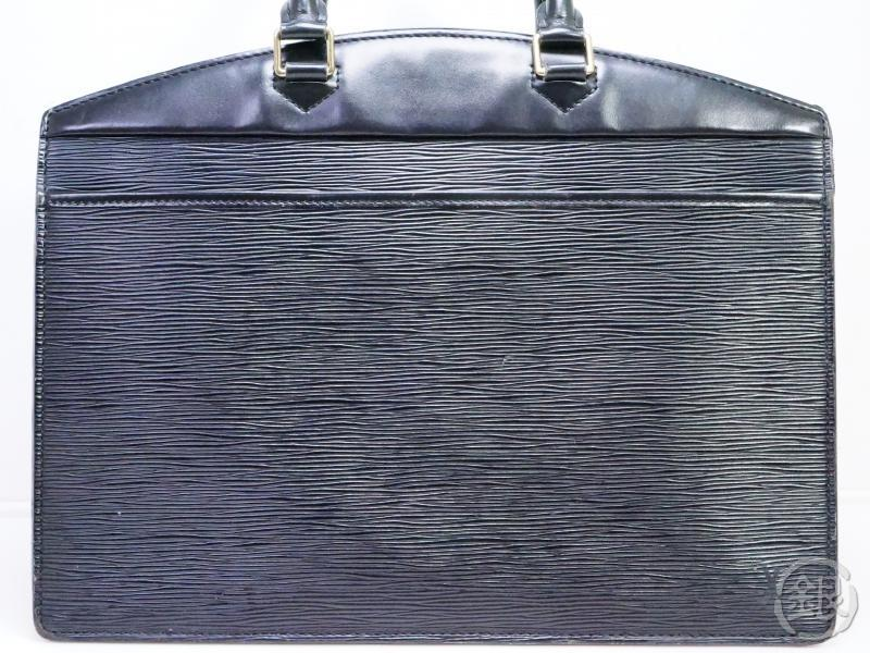 AUTHENTIC PRE-OWNED LOUIS VUITTON LV EPI BLACK RIVIERA HAND BAG COSMETIC BEAUTY CASE M48182 190795