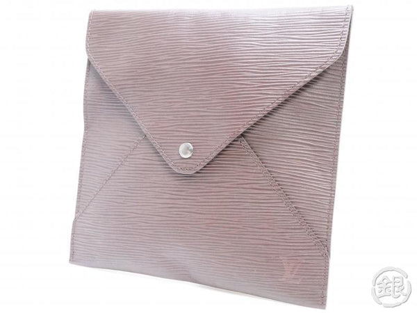 AUTHENTIC PRE-OWNED LOUIS VUITTON EPI MOKA BROWN VIP Limited NOVELTY POUCH CASE CLUTCH BAG 151088