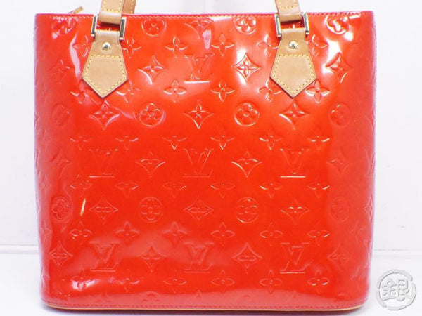 AUTHENTIC PRE-OWNED LOUIS VUITTON VERNIS ROUGE RED HOUSTON SHOULDER TOTE BAG M91092 190703
