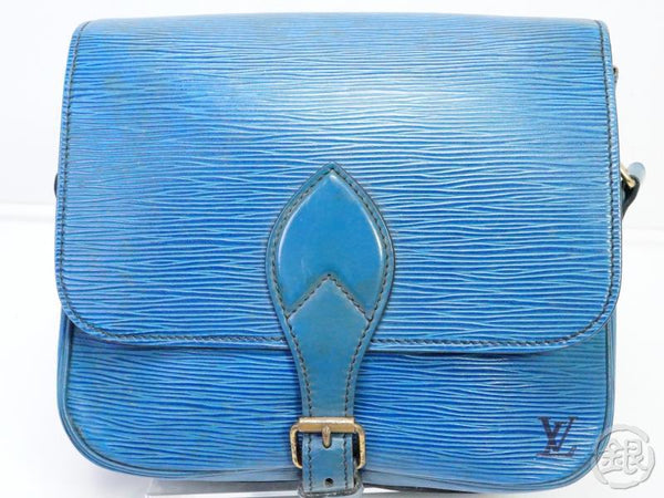 AUTHENTIC PRE-OWNED LOUIS VUITTON EPI TOLEDO BLUE CARTOUCHIERE CROSSBODY MESSENGER BAG M52245 190797