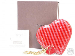 AUTHENTIC PRE-OWNED LOUIS VUITTON VERNIS RAYURES POMME D'AMOUR PORTE-MONNAIE COEUR M91714 190802