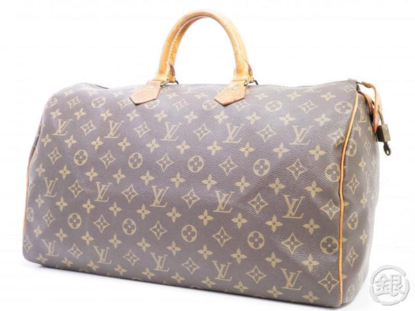 AUTHENTIC PRE-OWNED LOUIS VUITTON VINTAGE SPEEDY 40 MONOGRAM DUFFLE HAND BAG M41522 M41106 190698