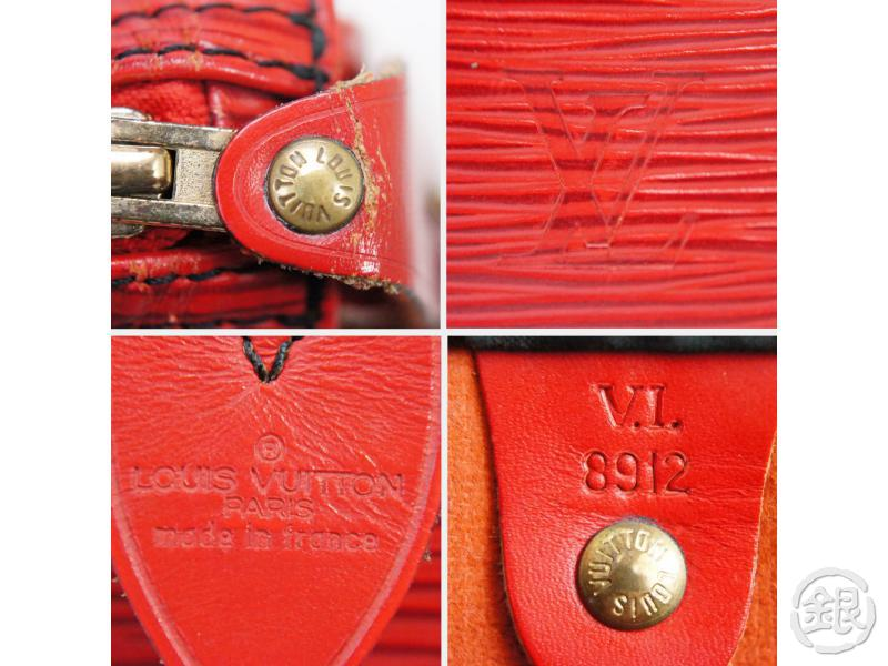 AUTHENTIC PRE-OWNED LOUIS VUITTON EPI ROUGE CASTILLAN RED SPEEDY 35 DUFFLE HAND BAG M42997 190517