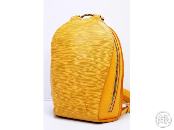 AUTHENTIC PRE-OWNED LOUIS VUITTON LV EPI TASSILI YELLOW JAUNE MABILLON BACKPACK BAG M52239 190853