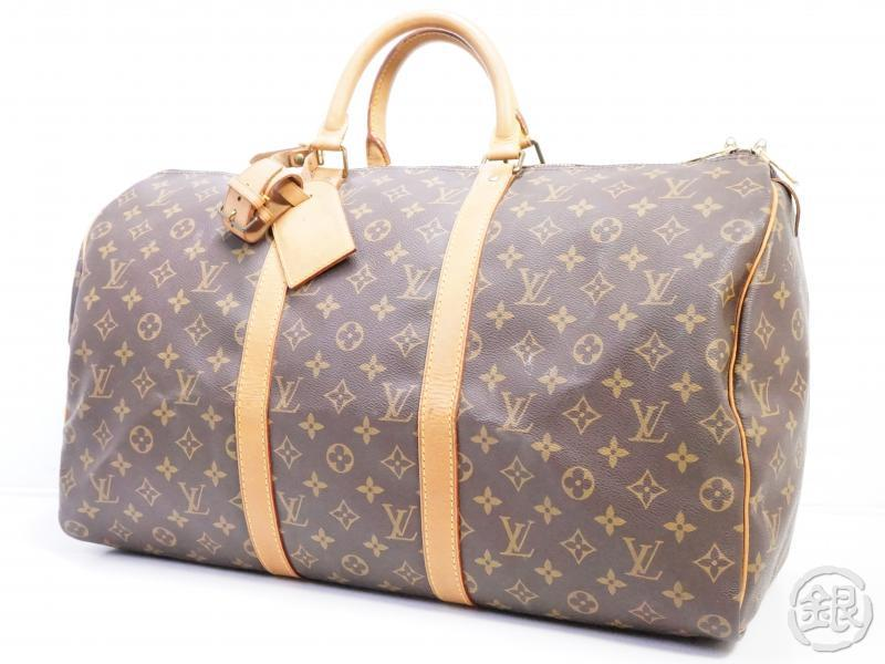 AUTHENTIC PRE-OWNED LOUIS VUITTON MONOGRAM KEEPALL 50 LARGE TRAVELING BAG DUFFLE BAG M41426 190790