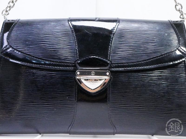 AUTHENTIC PRE-OWNED LOUIS VUITTON LV EPI ELECTRIC NOIR POCHETTE IENA 2-WAY CLUTCH BAG M4027N 190859