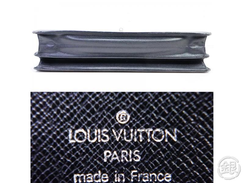 AUTHENTIC PRE-OWNED LOUIS VUITTON TAIGA BLACK ARDOISE SERVIETTE MOSKOVA BRIEFCASE BAG M30032 190847
