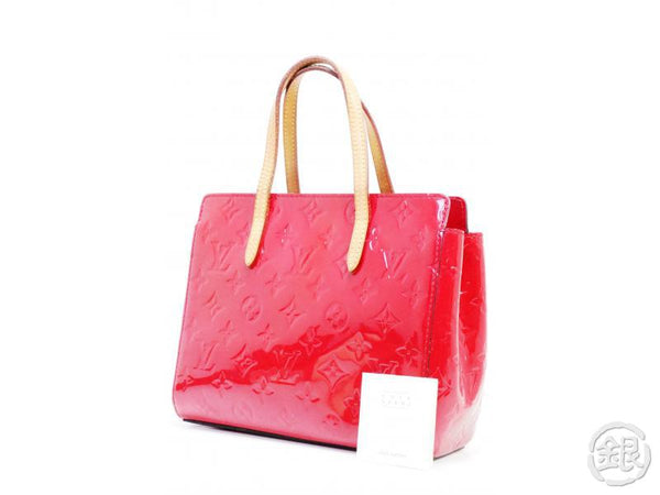AUTHENTIC PRE-OWNED LOUIS VUITTON VERNIS ROSE INDIEN PINK CATALINA BB MINI TOTE BAG M90016 190920