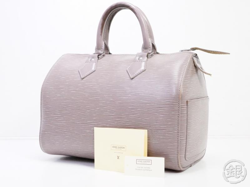 AUTHENTIC PRE-OWNED LOUIS VUITTON EPI LILAC PURPLE SPEEDY 25 HAND BAG DUFFLE PURSE M4301B 190922