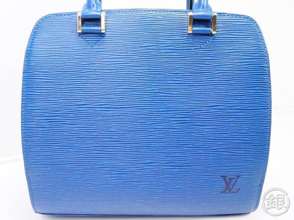AUTHENTIC PRE-OWNED LOUIS VUITTON EPI TOLEDO BLUE PONT NEUF HAND BAG PURSE M52055 190933