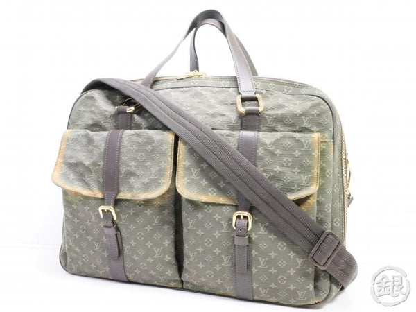 AUTHENTIC PRE-OWNED LOUIS VUITTON MONOGRAM MINI KHAKI CLAUDINE 2-WAY TRAVEL BAG STRAP M42332 190908