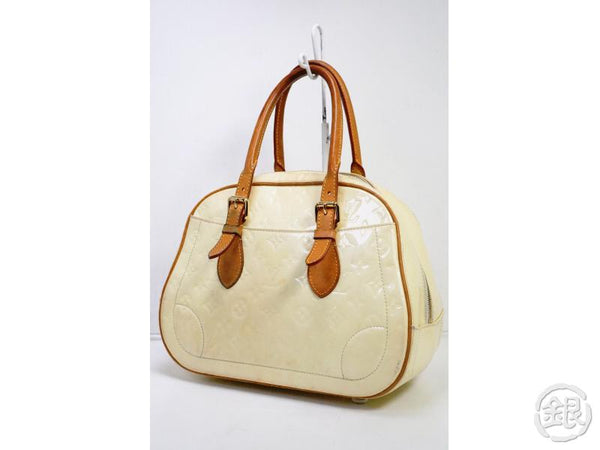 AUTHENTIC PRE-OWNED LOUIS VUITTON VERNIS PERLE PEARL WHITE SUMMIT DRIVE HAND TOTE BAG M93514 190867
