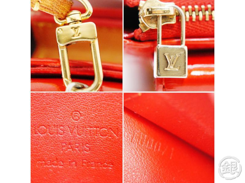 AUTHENTIC PRE-OWNED LOUIS VUITTON LV VERNIS ROUGE RED MOTT SHOULDER BAG PURSE M91137 190572