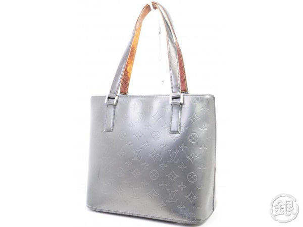 AUTHENTIC PRE-OWNED LOUIS VUITTON MONOGRAM MAT BLACK STOCKTON SHOULDER TOTE BAG M55112 190963