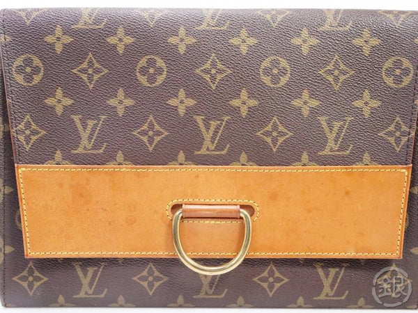 AUTHENTIC PRE-OWNED LOUIS VUITTON MONOGRAM VINTAGE POCHETTE IENA 28 CLUTCH BAG 190966