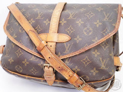 AUTHENTIC PRE-OWNED LOUIS VUITTON LV SAUMUR 30 MONOGRAM COMPARTMENT MESSENGER BAG M42256 190965